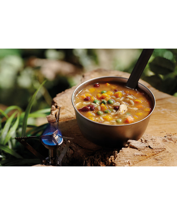 Happy Yak Chicken and Orzo Soup (Lactose Free)