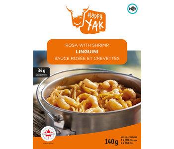 Happy Yak Linguini Rosa with Shrimp
