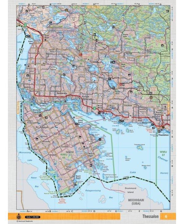 Backroads Mapbooks ON TOPO MAP WATERPROOF MAP NEON-06 Thessalon