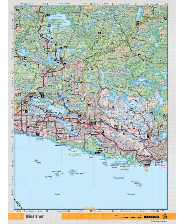 Backroads Mapbooks ON TOPO MAP WATERPROOF MAP NEON-07 Blind River