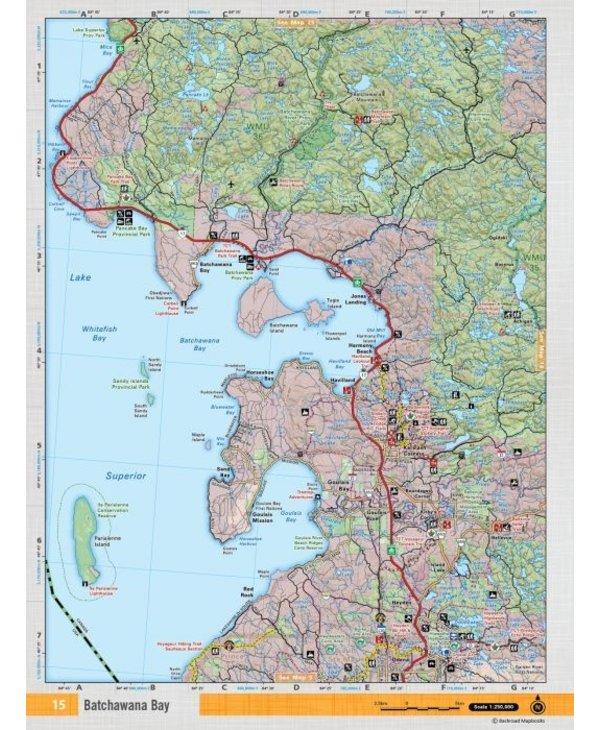 Backroads Mapbooks ON TOPO MAP WATERPROOF MAP NEON-15 Goulais Bay