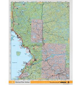 Backroad Mapbooks Backroads Mapbooks ON TOPO MAP WATERPROOF MAP NEON-25 Montreal River Harbour