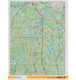 Backroad Mapbooks Backroads Mapbooks ON TOPO MAP WATERPROOF MAP NEON-27 Island Lake