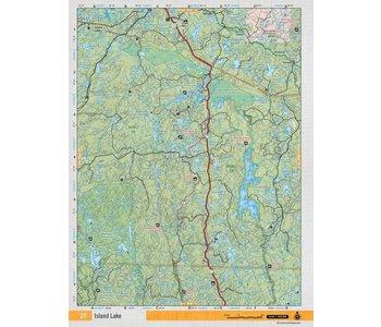 Backroads Mapbooks ON TOPO MAP WATERPROOF MAP NEON-27 Island Lake