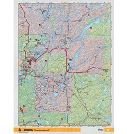 Backroad Mapbooks Backroads Mapbooks ON TOPO MAP WATERPROOF MAP NEON-36 Wawa