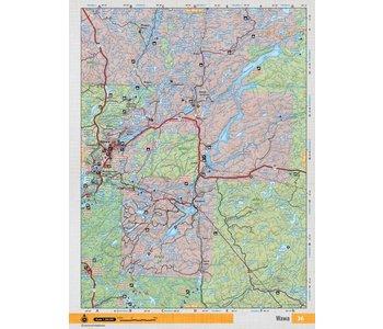 Backroads Mapbooks ON TOPO MAP WATERPROOF MAP NEON-36 Wawa