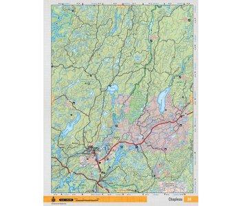 Backroads Mapbooks ON TOPO MAP WATERPROOF MAP NEON-38 Chapleau