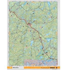 Backroad Mapbooks Backroads Mapbooks ON TOPO MAP WATERPROOF MAP NEON-47 White River