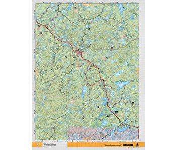 Backroads Mapbooks ON TOPO MAP WATERPROOF MAP NEON-47 White River