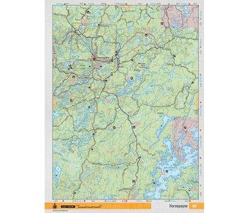 Backroads Mapbooks ON TOPO MAP WATERPROOF MAP NEON-60 Hornepayne
