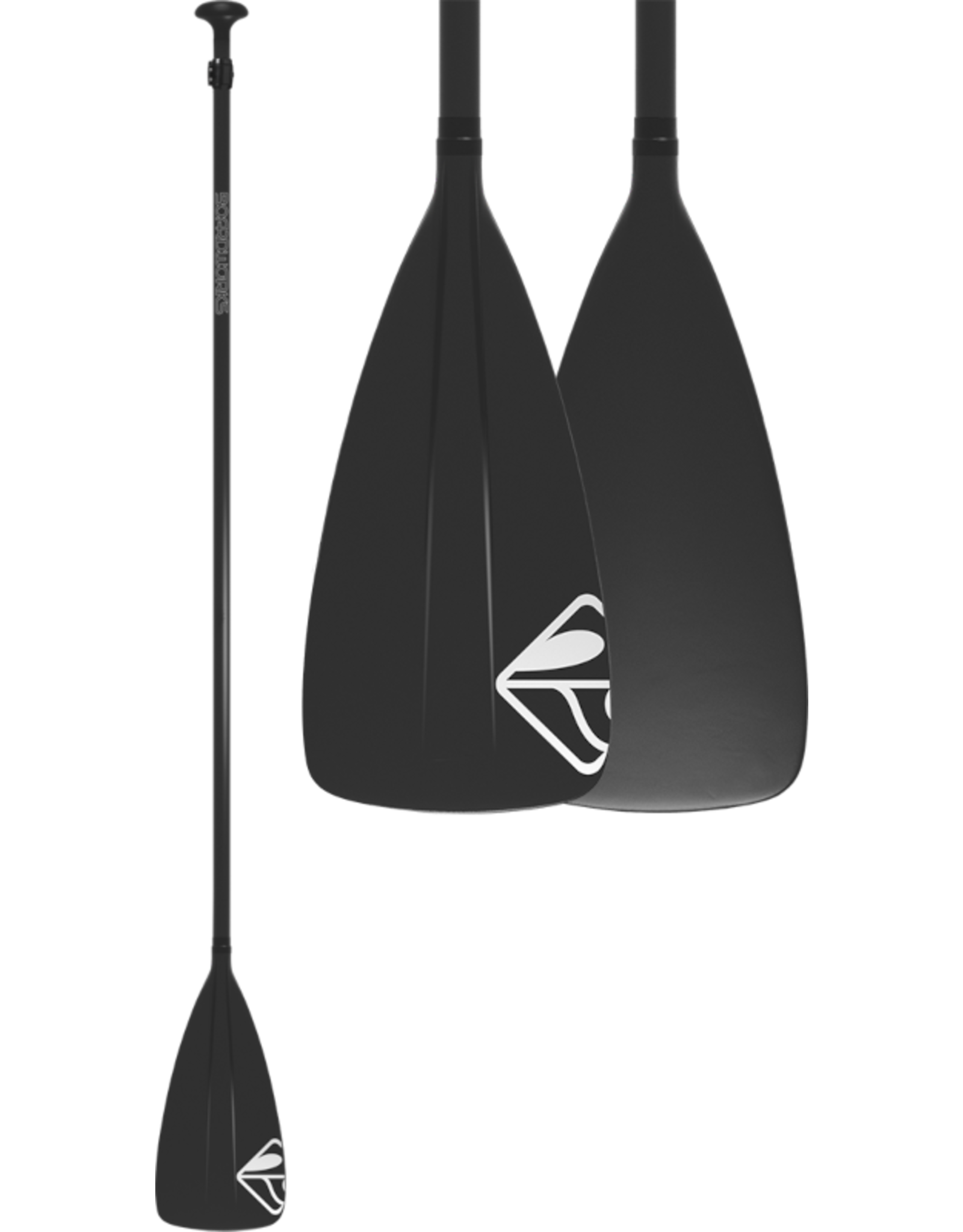 "Boardworks Boardworks Fiberglass/Plastic 2Pc Adj. SUP Paddle (68""-88""), Const. Fiberglass Shaft / Poly, Colour  Black/Black"
