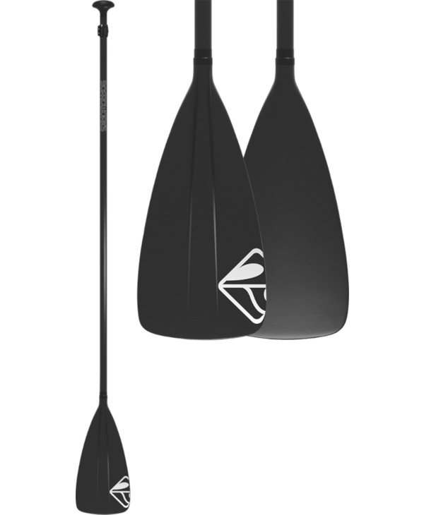 "Boardworks Fiberglass/Plastic 2Pc Adj. SUP Paddle (68""-88""), Const. Fiberglass Shaft / Poly, Colour  Black/Black"