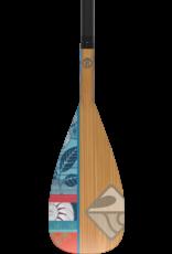 "Boardworks Boardworks Muse 2Pc Adj. SUP Paddle (67""-97""), Const. Carbon Shaft /Fiberglass, Colour  Carbon/Bamboo"
