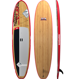 "Boardworks Boardworks Triton 10'6"" SUP (Stand Up Paddleboard) - Red/Bamboo"