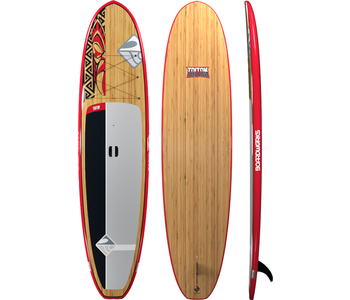 """Boardworks Triton 10'6"""" SUP (Stand Up Paddleboard) - Red/Bamboo"""