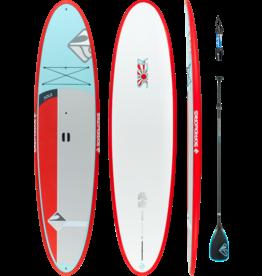 "Boardworks Boardworks Solr 11'6"" SUP (Stand Up Paddleboard) -  Blue/Red/Grey"
