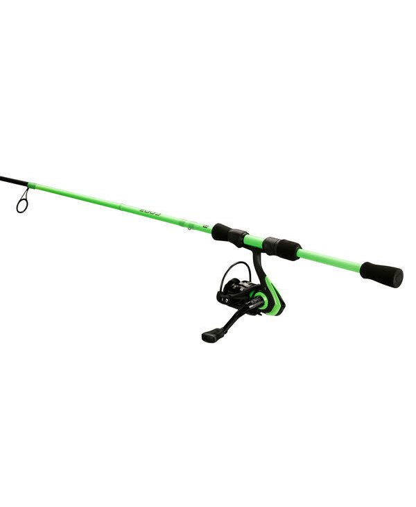 """13 Fishing Code Neon -  6'7"""" M Spinning Combo (2000 Size Reel) - 2 pc"""