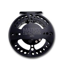 "Raven Raven 4 3/4"" Matrix Fully Ported Limited Edition Centerpin Float Reel, Jet Black"
