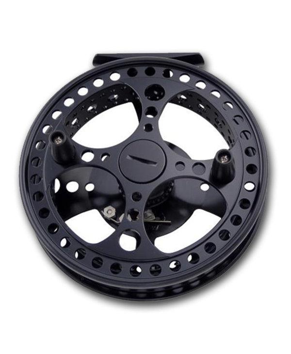 "Raven 4 3/4"" Matrix Fully Ported Limited Edition Centerpin Float Reel, Jet Black"