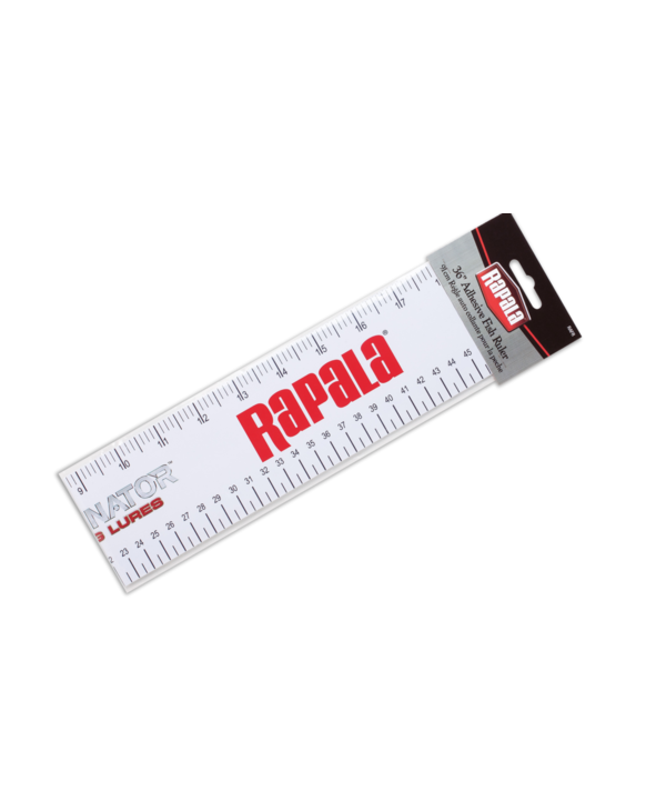 Rapala Adhesive 36 in Fish Ruler White, Measures Cms or Inches