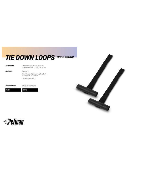 Pelican Hood Trunk Tie-Down Loops Set Of 2