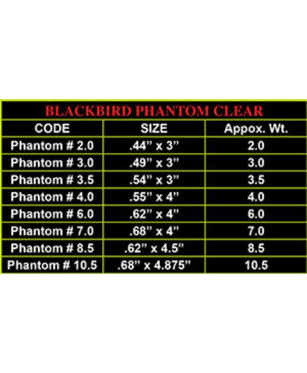 Redwing Tackle Blackbird Phantom Clear 2/pk