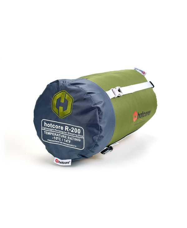 "Hotcore R-200 Sleeping Bag Rectangular Green 78""x34"" 3.9 lbs -10o C"