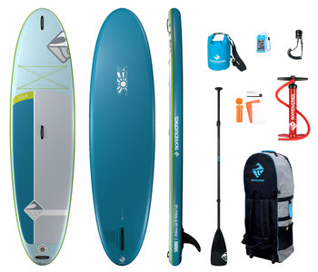 """Boardworks  Solr 10'6"""" Inflatable  SUP (Stand Up Paddleboard)-Teal/Grey"""