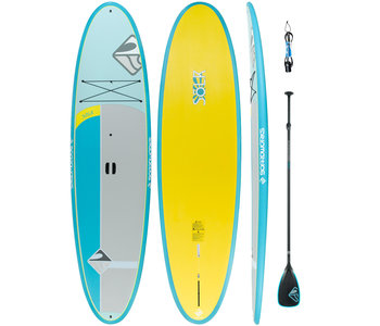 """Boardworks Solr 10'6"""" SUP (Stand Up Paddleboard) - Aqua/Yellow"""