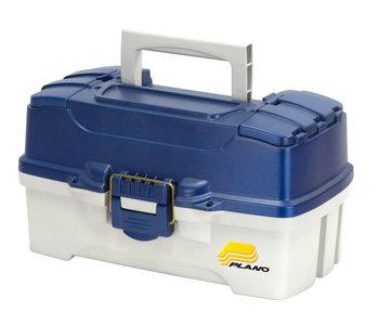 Plano 2 Tray Tackle Box w/dual Top Access - Blue Metallic/Off White