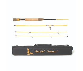 """Eagle Claw Trailmaster 7'6"""" Medium Action 4pc Spinning/Fly Travel Rod"""