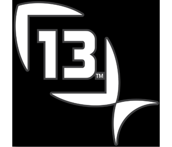 """13 Fishing - Decal White Small 5""""x 5"""""""