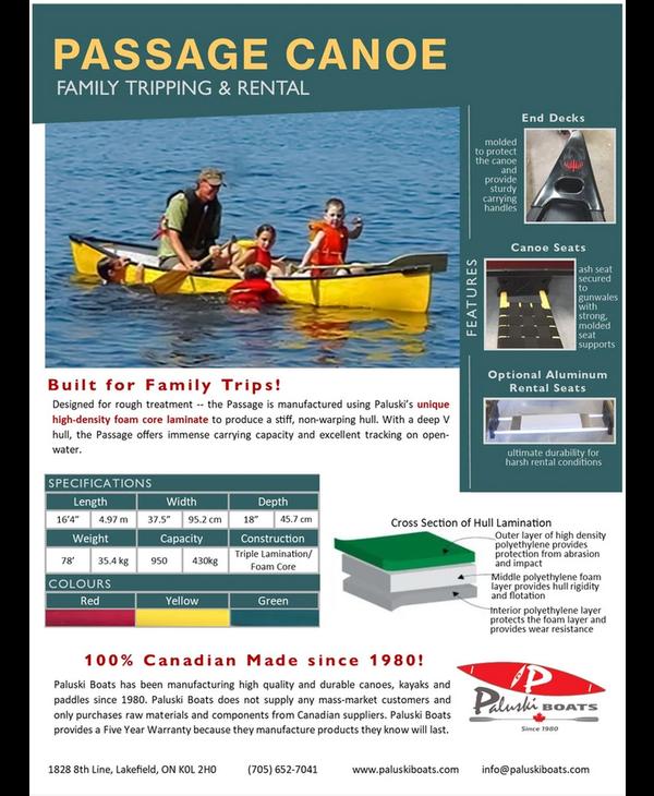 "Paluski Passage Canoe 16'4"""