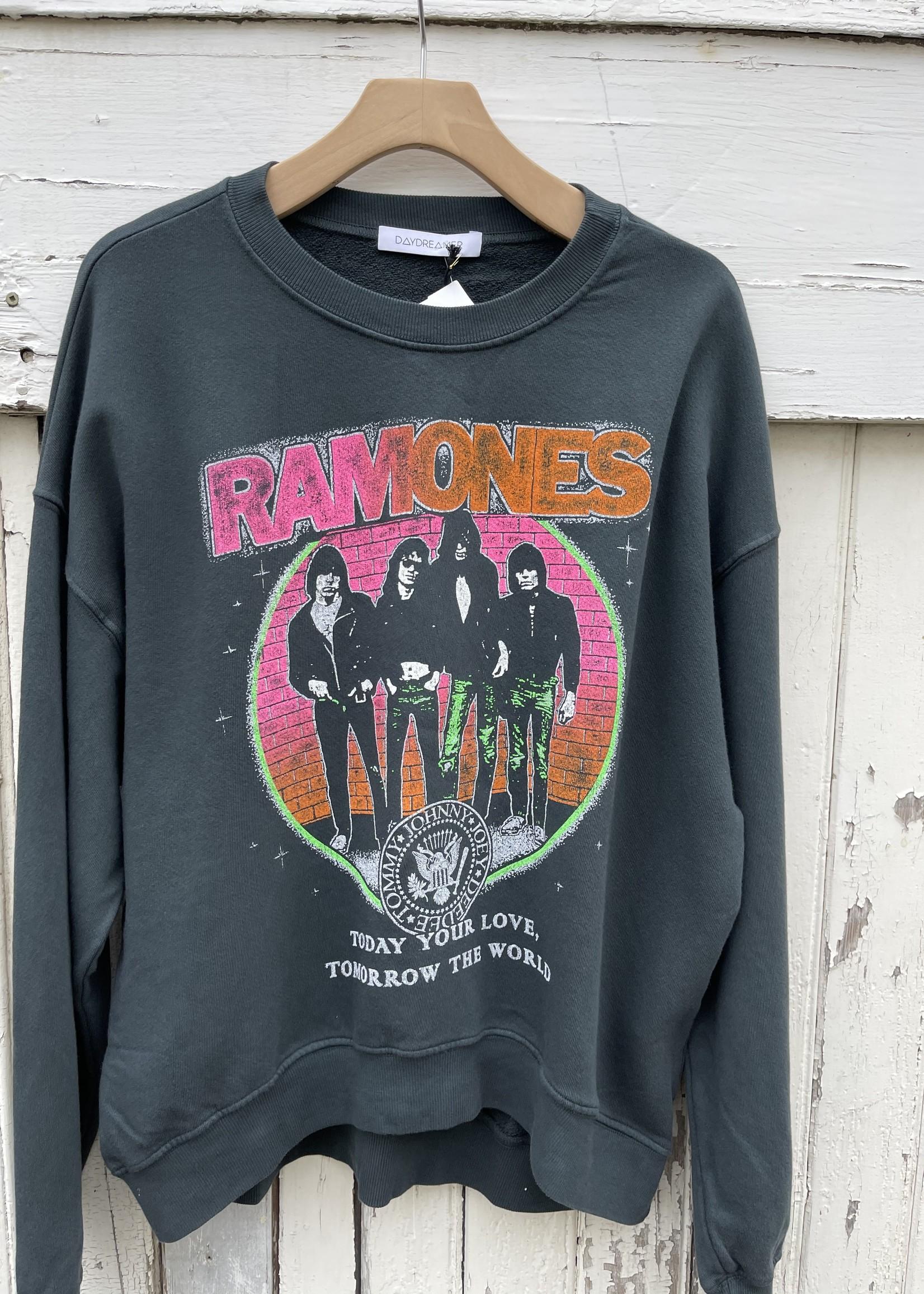 Daydreamer Ramones today your love crew sweatshirt