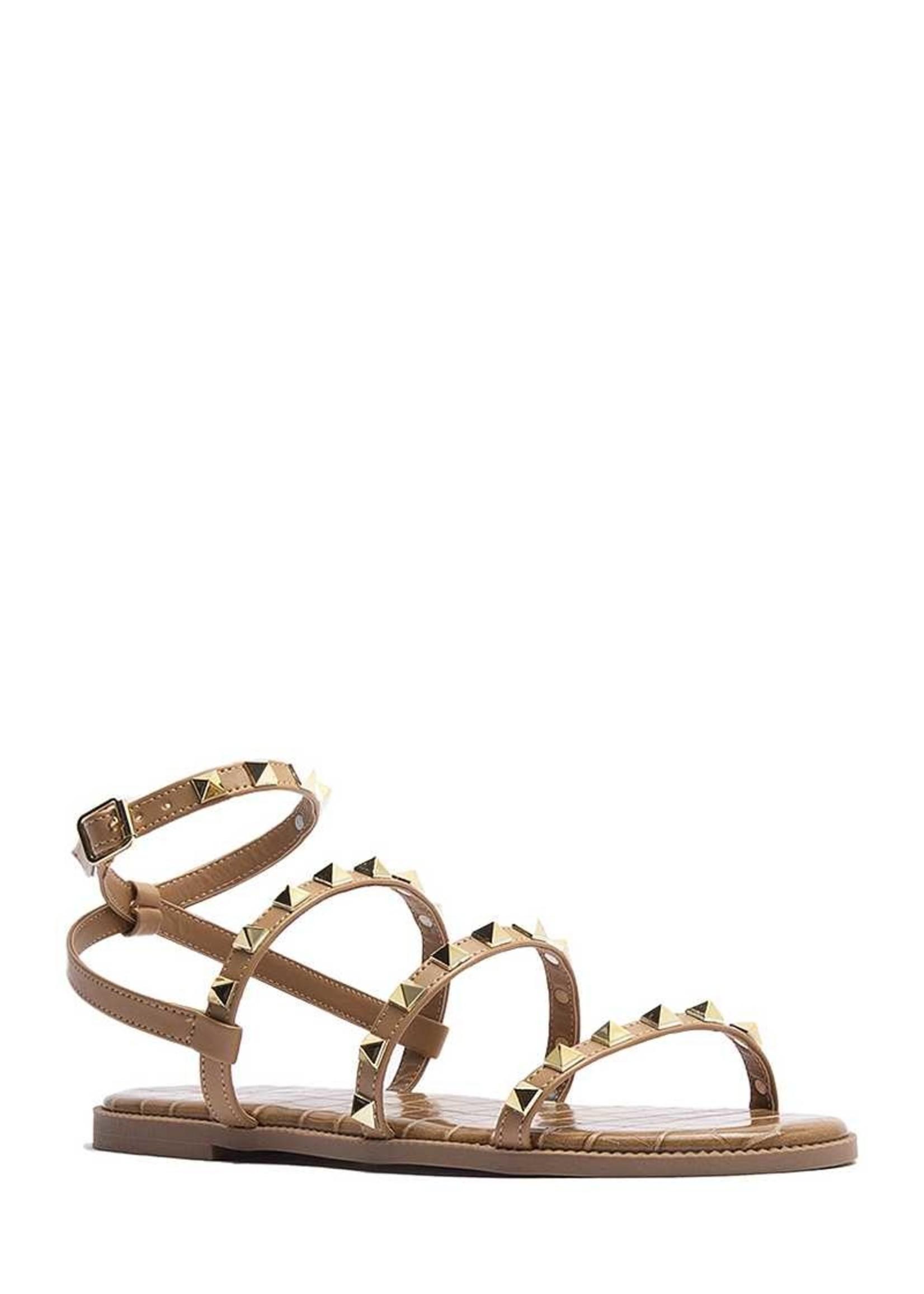 Studded wrap sandals
