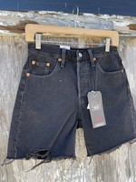 Levis 501 Mid Thigh Short in Lunar Black