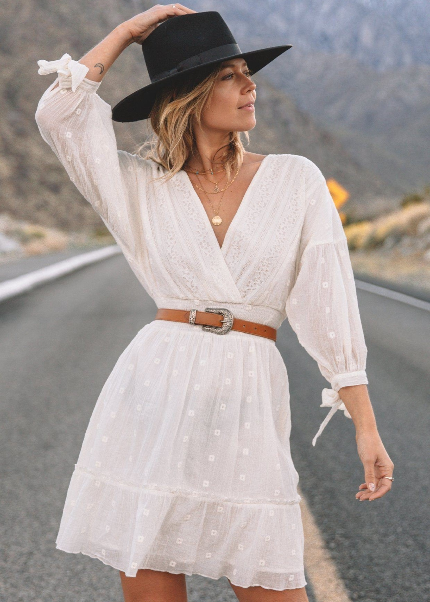 Free Spirit White Mini Dress
