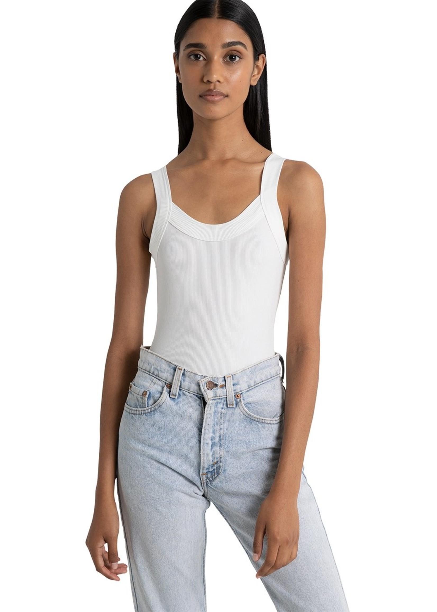 Lola Singlet Bodysuit - WHITE