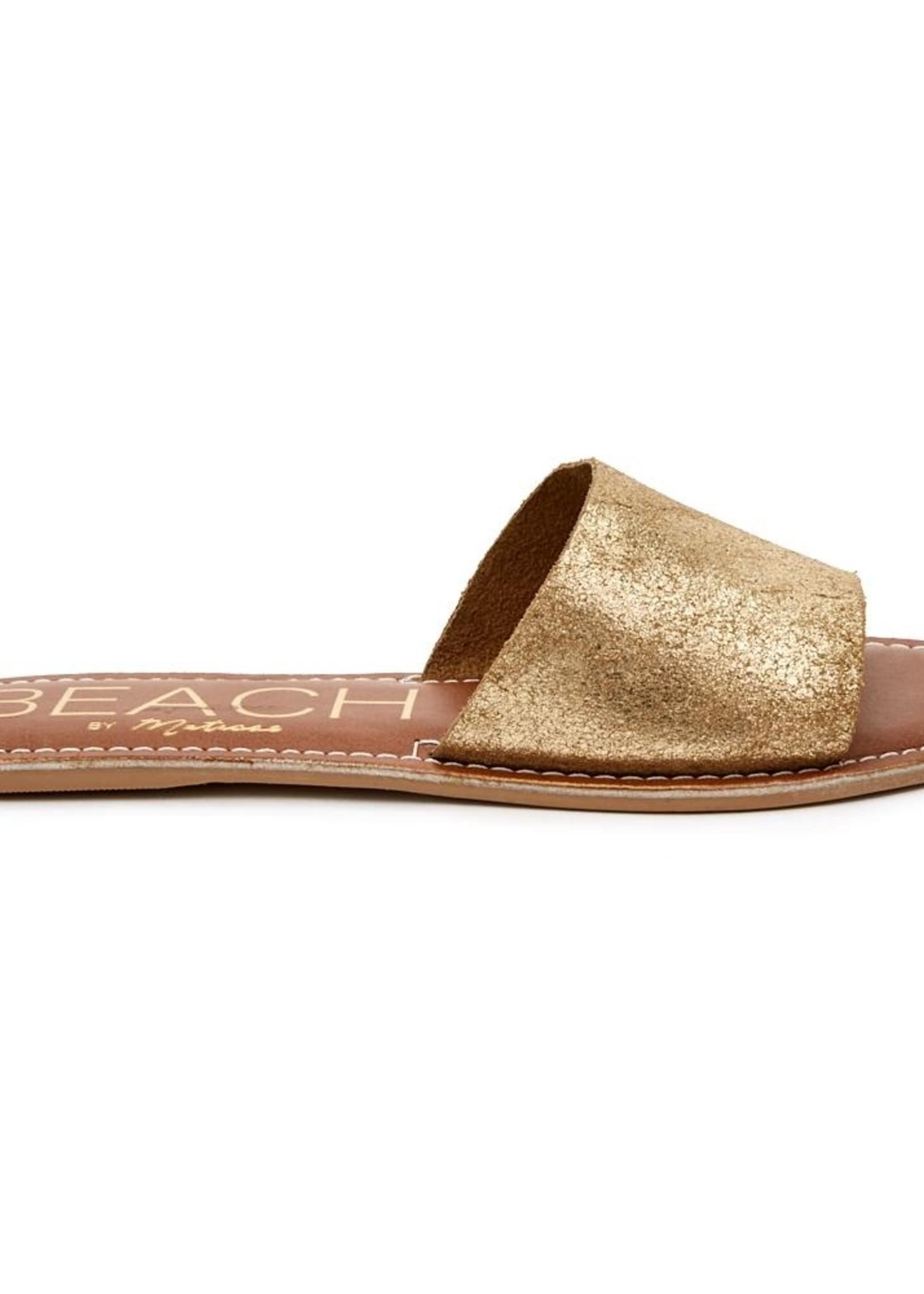 Matisse Cabana Slide in Gold Frost