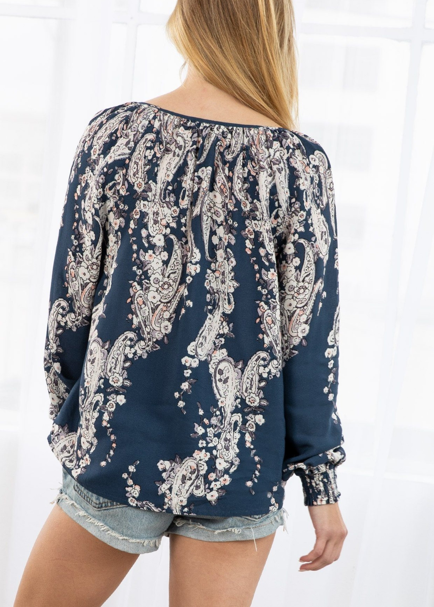 Cassis Floral Top