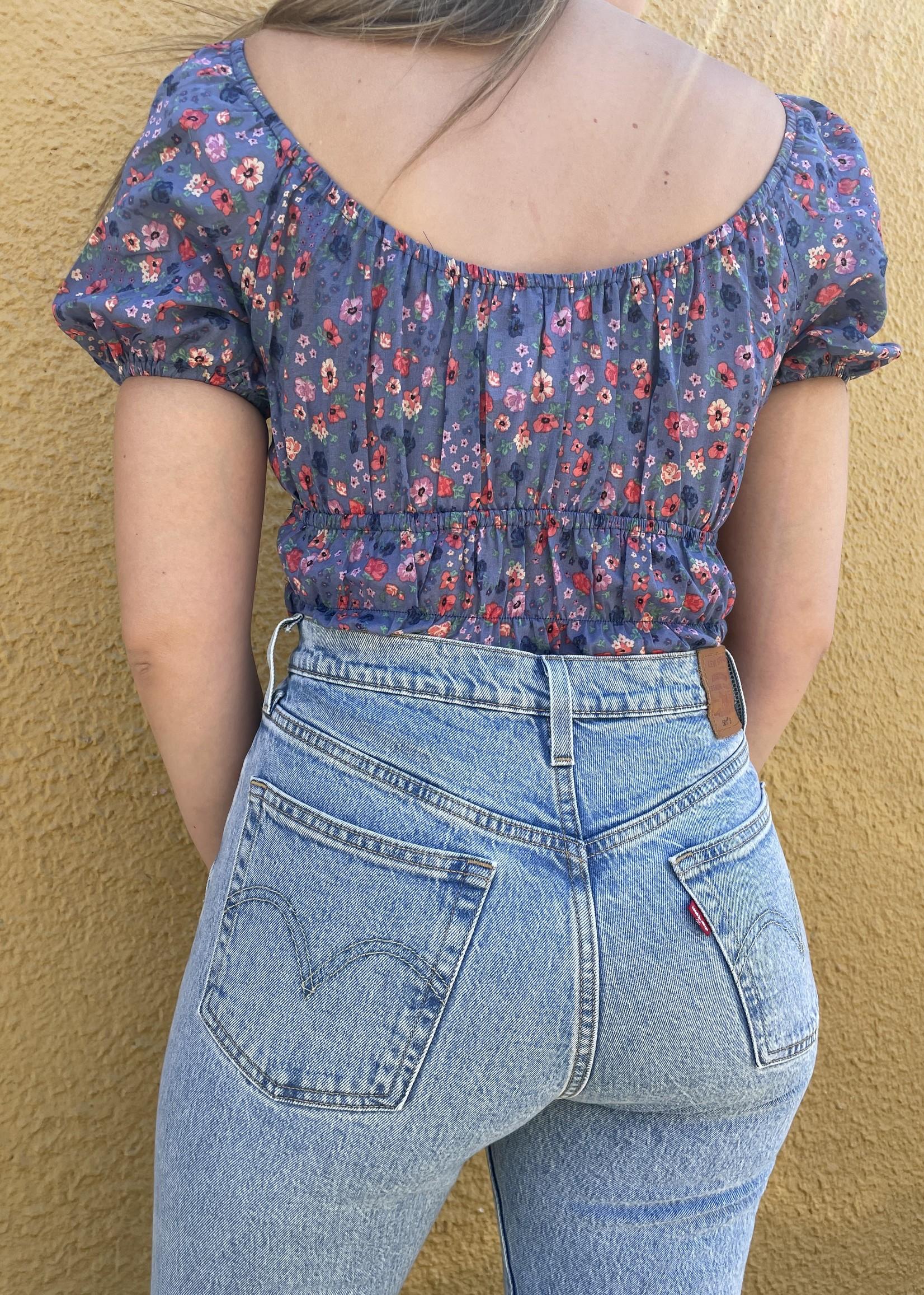 Josie Bodysuit- Navy Floral
