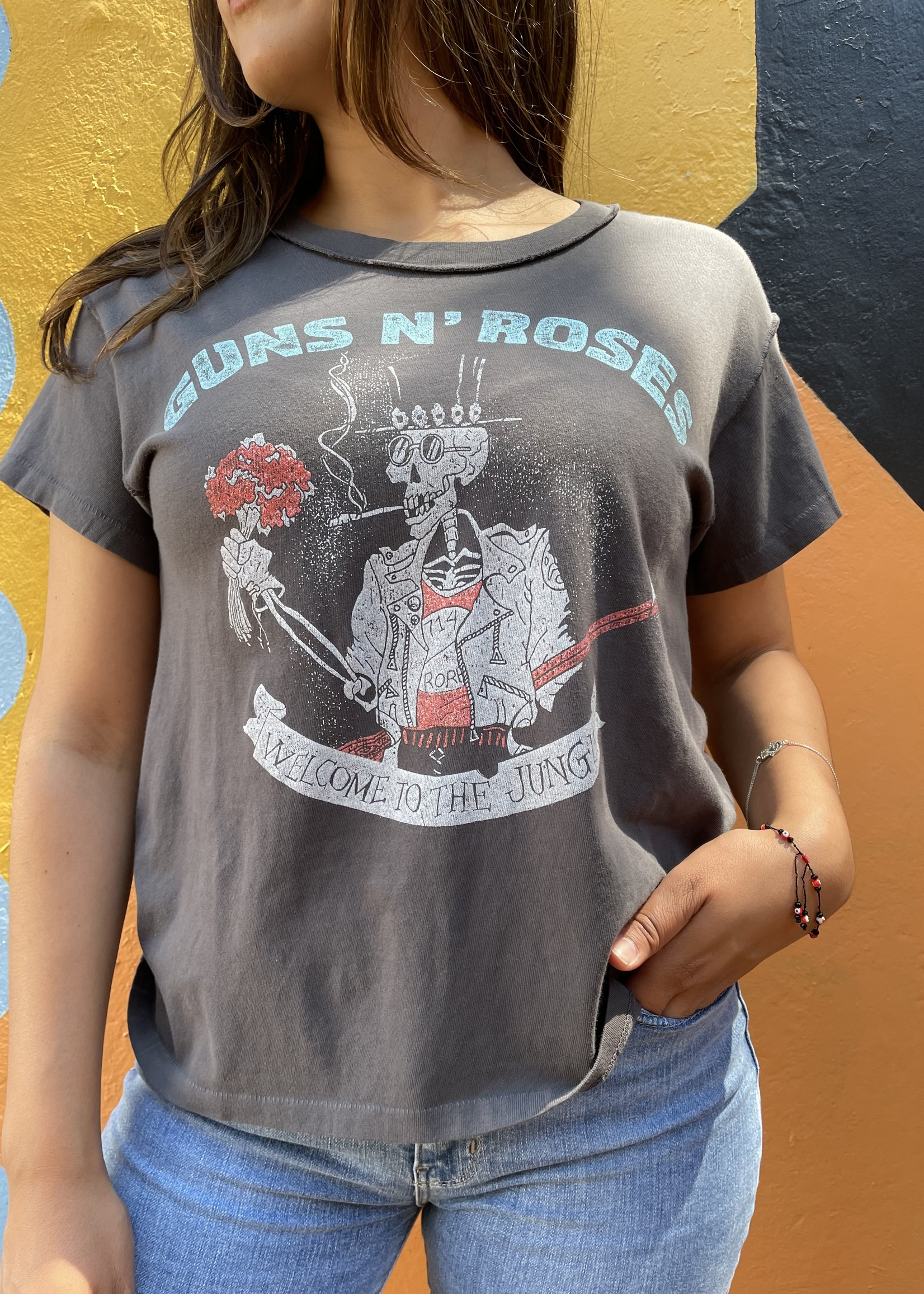 Guns N' Roses Welcome To The Jungle Reverse Girlfriend Tee