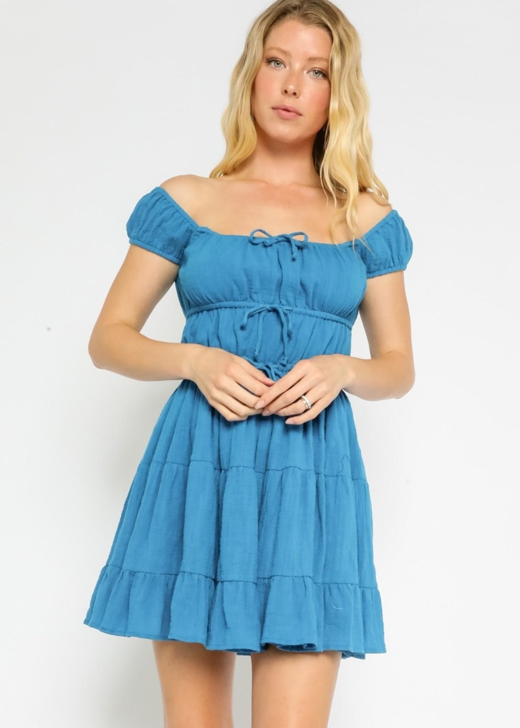 Gauze Baby Doll Dress