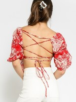 Painted Islands Puff Sleeve Top