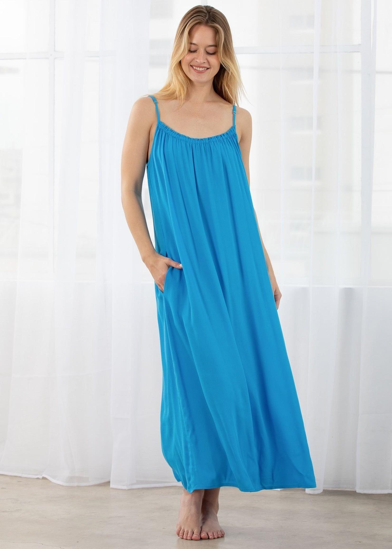 Rain or Shine Maxi Dress- Ocean