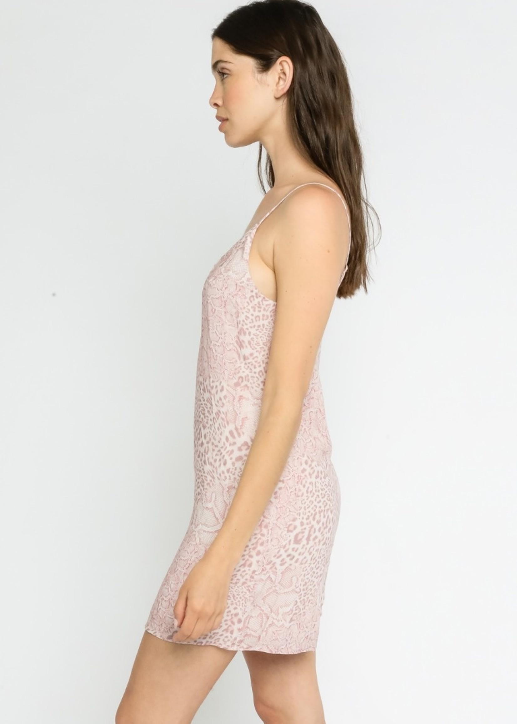 Pink Snake Tank Dress