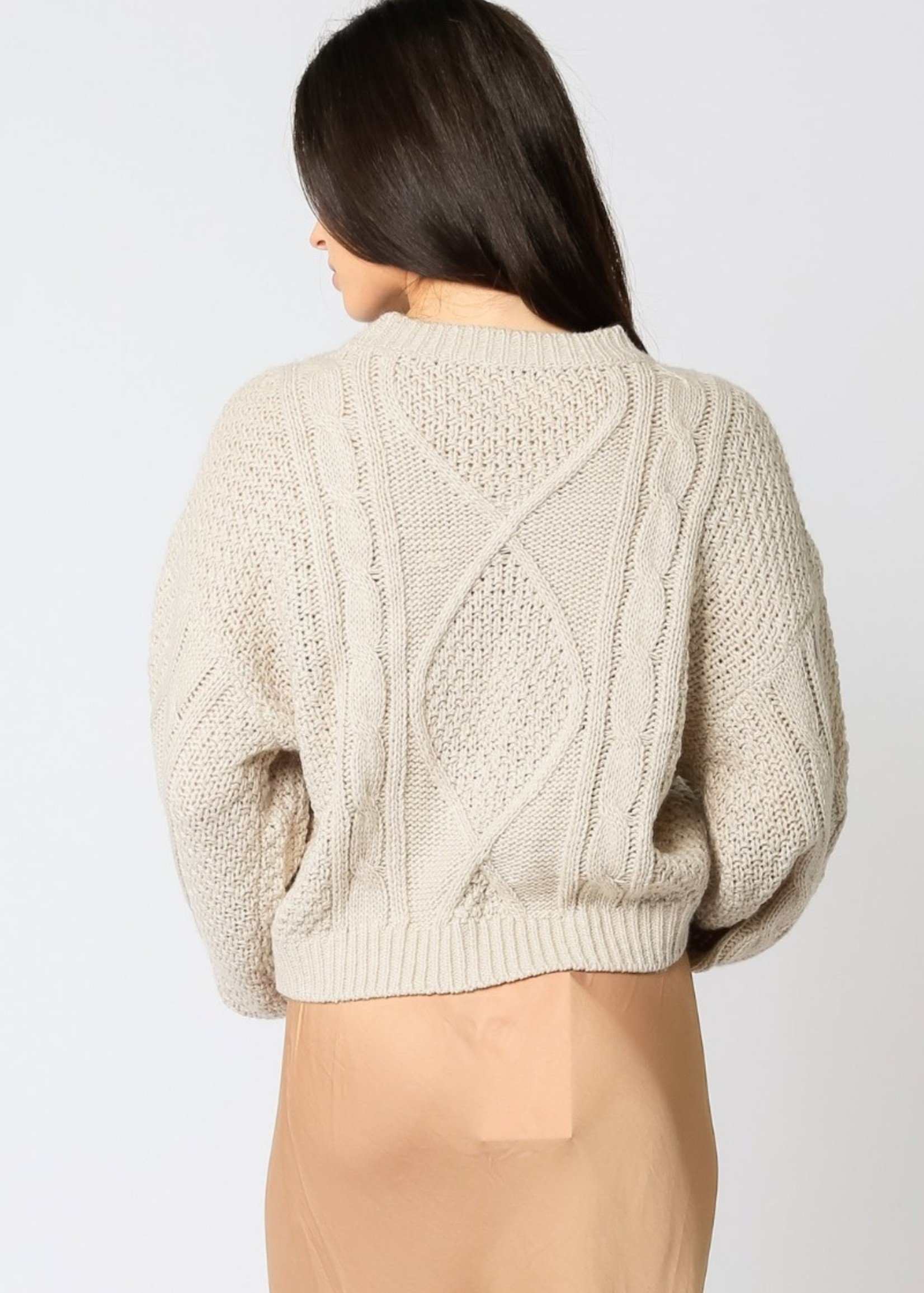 Multi Cable Knit Fisherman Sweater