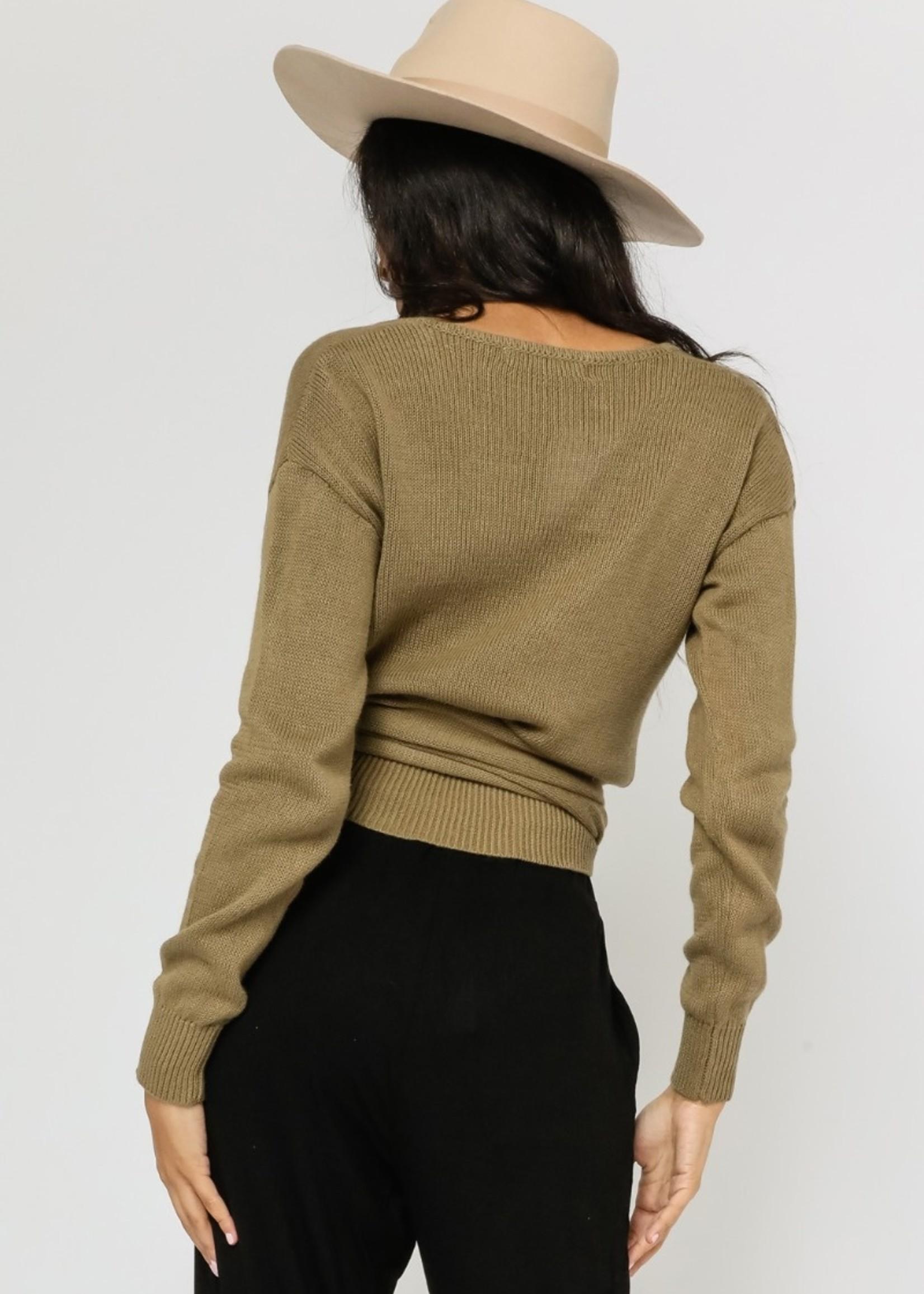Whitney Wrap  Sweater