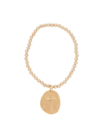 enewton Classic Gold 4mm Bead Bracelet - Inspire Gold Charm