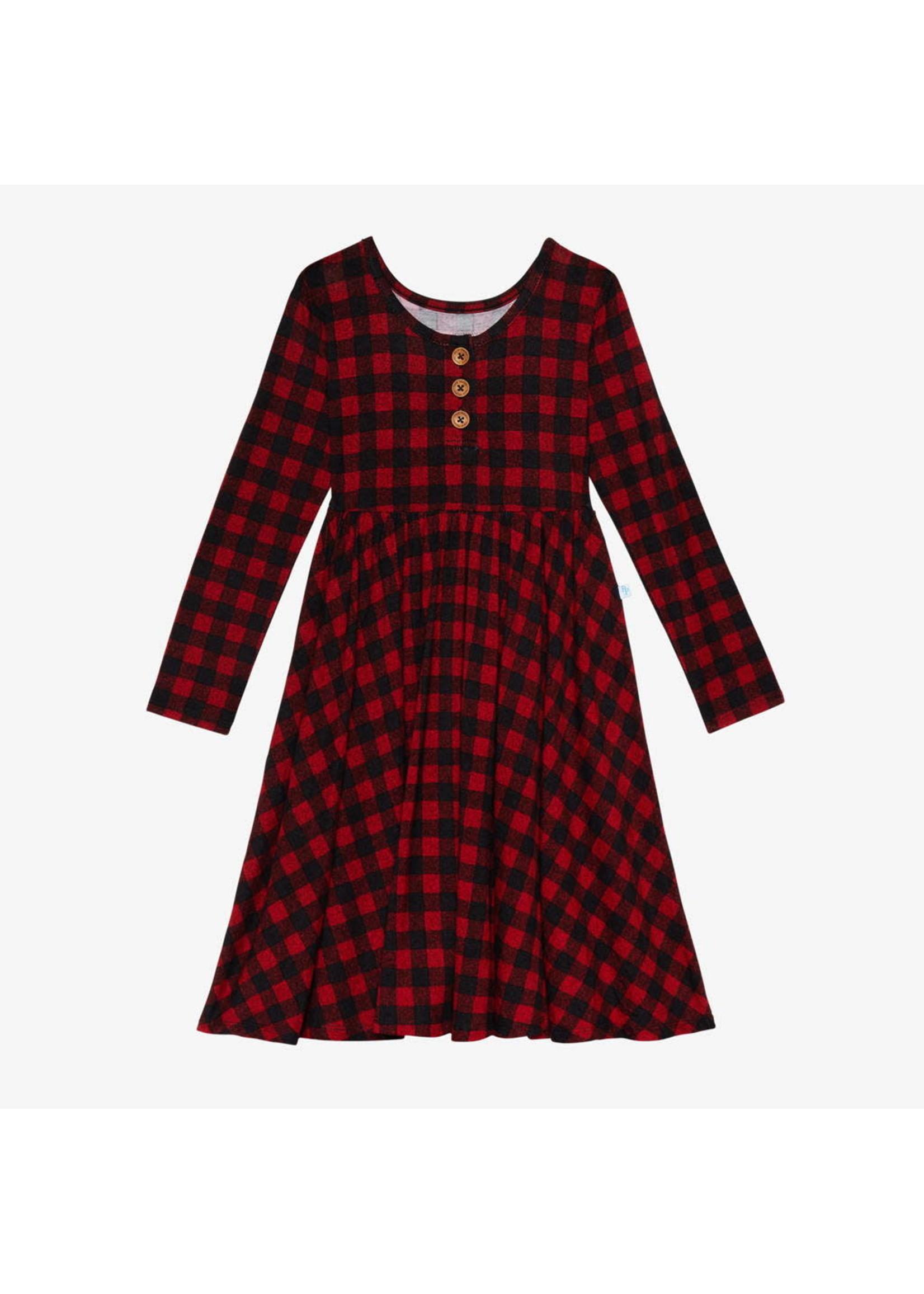 posh peanut Grayson Long Sleeve Twirl Dress 5T